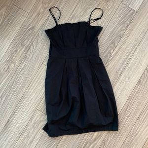 Club Monaco Black Pleated Dress